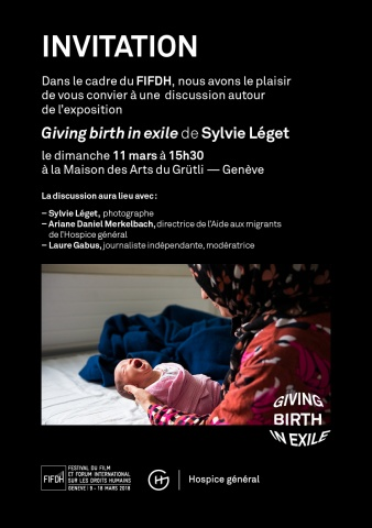 Invitation à l'exposition Giving birth in exile